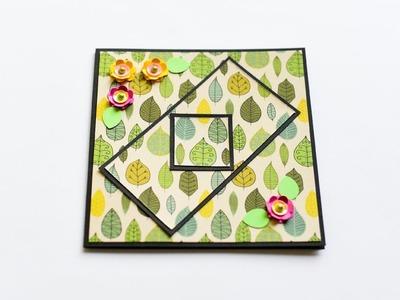 How to make : Greeting Card with Flowers | Kartka Okolicznościowa z Kwiatami - Mishellka #237 DIY