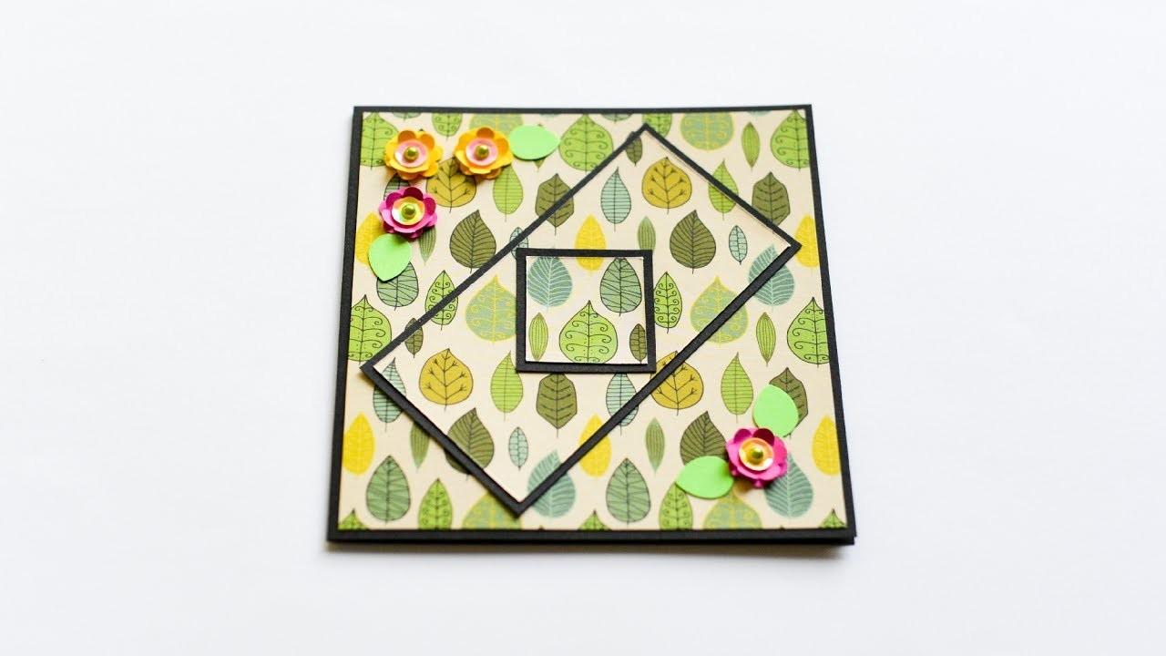 How to make : Greeting Card with Flowers   Kartka Okolicznościowa z Kwiatami - Mishellka #237 DIY