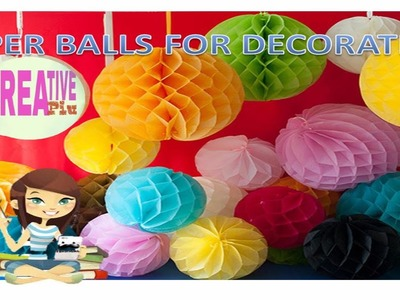 How to make hanging paper ball for party decoration