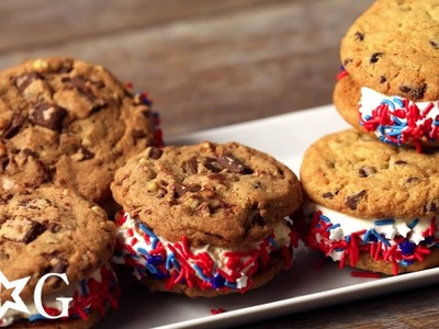 How to Make Ice Cream Sandwiches for 4th of July | OMaG | American Girl
