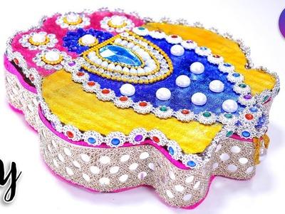 How to make kumkum box for raksha bandhan | Best out of waste | Artkala 240