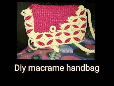 How to make macrame handbag #design 2 full tutorial