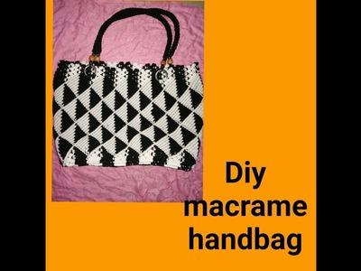 How to make macrame handbag  # design 3 ( part1)
