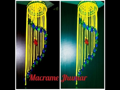 How to make .  Macrame jhumar new design . at home very simple design
