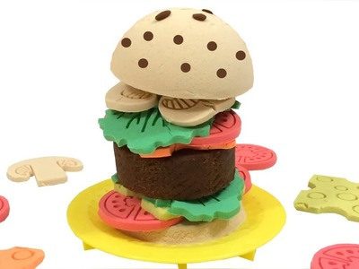 How To Make Maxi Cheese Burger With Kinetic Sand Mad Mattr DIY Creative For Children