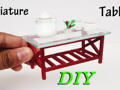 How To Make Miniature Realistic simple Table -  Dollhouse