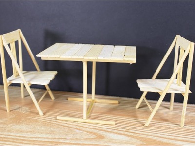 How to Make Miniature Table and Chair at home; Miniature Table and Chair DIY Project