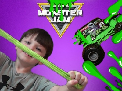 HOW TO MAKE MONSTER JAM GRAVE DIGGER SLIME