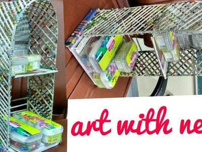 How to make Newspaper Rack with cardboard DIY || art with neha 81 ||