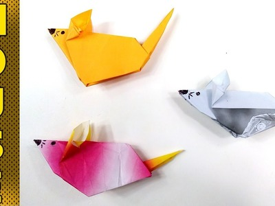 How to Make Origami Paper Mouse for Kids  - Paper Crafts - Makeators #46