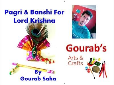 How to make Pagri & Banshi for Laddu Gopal.Ganapati | Making of Paagh.Pagg| ठाकुर जी की पगड़ी.