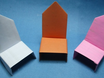 How to make paper chair ? origami chair making Easy instructions step by step.