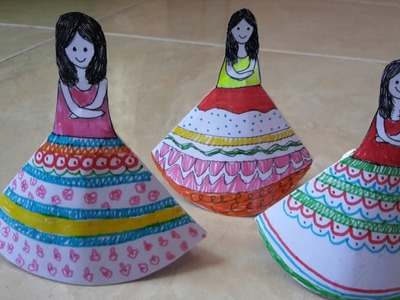 How to make paper doll # doll bookmark