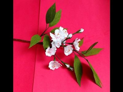 How to make Paper Flowers Cherry Blossom ( flower # 188)
