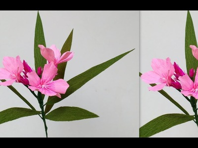 How to make Paper flowers Oleander. Nerium (flower # 179)
