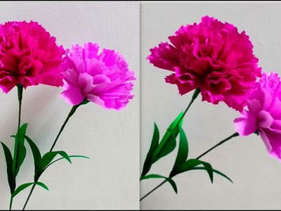 How to make Paper Flowers Carnation. Dianthus caryophyllus (flower # 187)