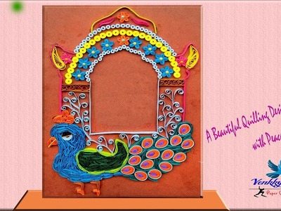 How To Make Peacock with Photo Frame | Paper Quilling Art