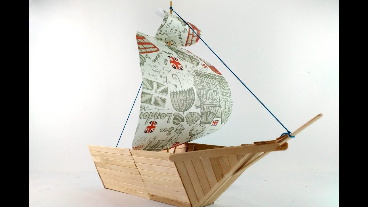 How to make popsicle sticks boat