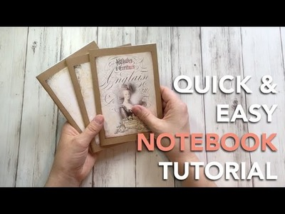 HOW TO make quick stapled notebooks - TUTORIAL