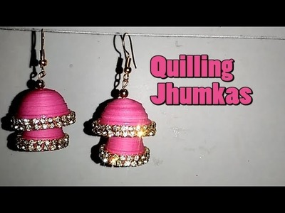 How to make Quilling earrings || Paper Earrings || Quilling Earrings || Quilling Jhumkas