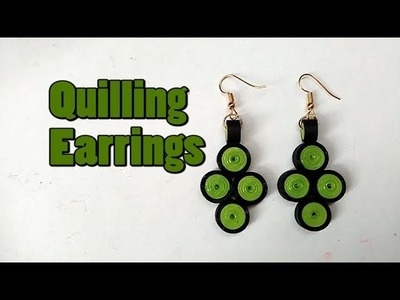 How to make Quilling earrings || Paper Earrings || Quilling Earrings || easy quilling earrings