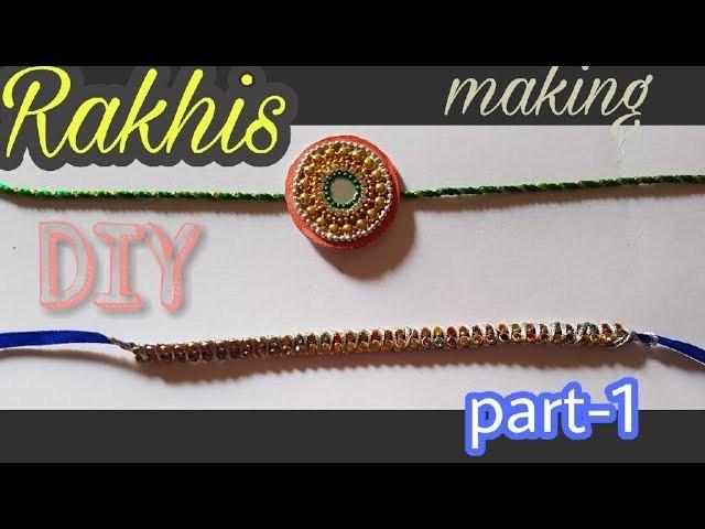 How to make Rakhi - 01 || DIY Rakhi making ideas at home