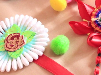 How to make Rakhi at home| 5 DIY Rakhi in just Rs 100 | DIY Rakhi | Easy Rakhi | Cotton Swab Rakhi