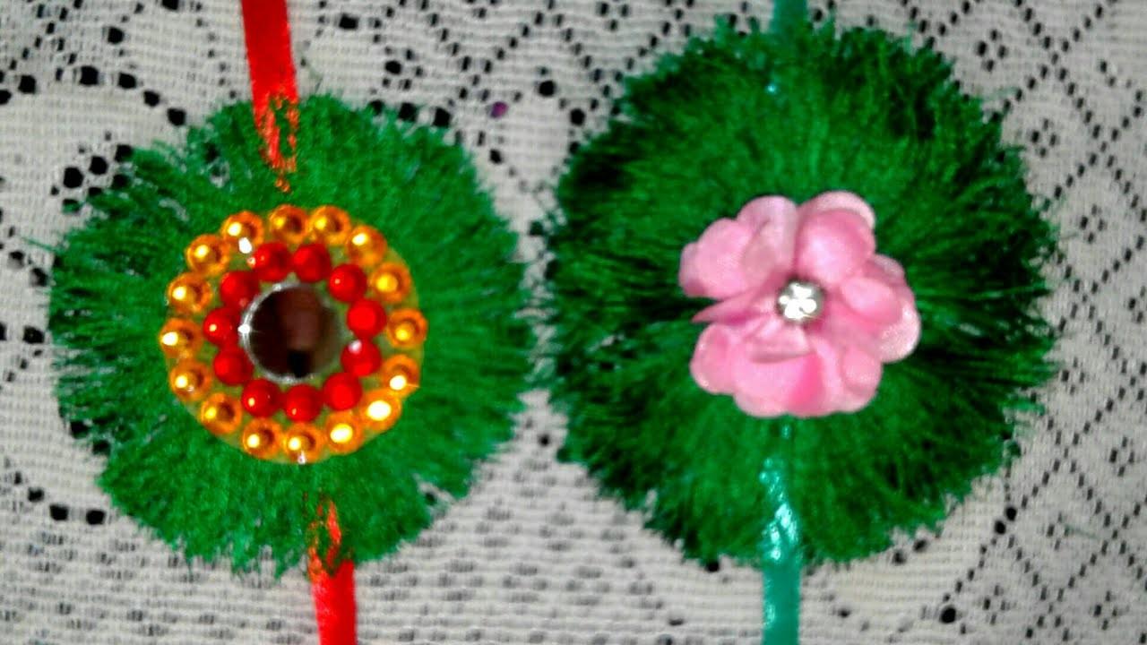 How to Make Rakhi at Home For Raksha Bandhan Festival.Rakhi Making With Silk Thread. Rakhi making
