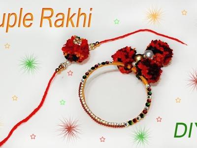How to make rakhi at home | raksha bandhan | silk thread rakhi | tutorial | Art With Creation