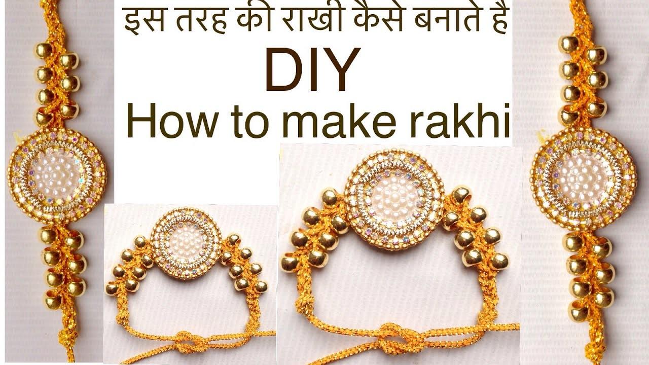 How to make rakhi at home | raksha bandhan |rakhi tutorial | jewellery art studio