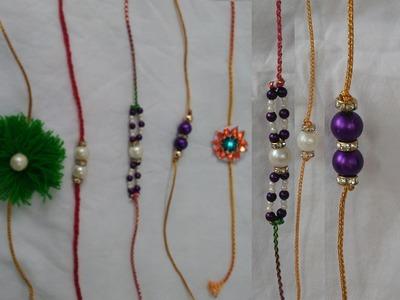 How to make rakhi at home | Pearl Designer Rakhi | 7 different kinds of rakhi | handmade rakhi