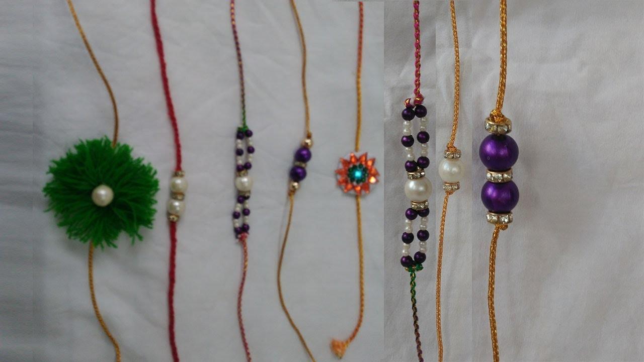 How to make rakhi at home   Pearl Designer Rakhi   7 different kinds of rakhi   handmade rakhi