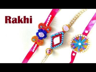 How to make rakhi at home | Rakhi making for kids at home | Rakhi Craft | घर  पर  राखी कैसे बनाये