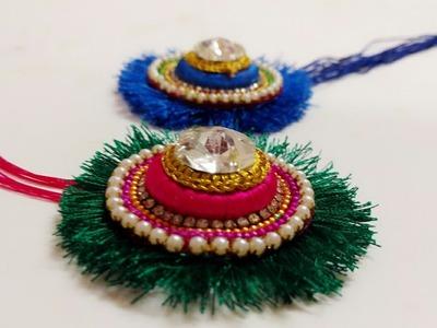 How to make Rakhi at home.Raksha Bandhan.simple and easy