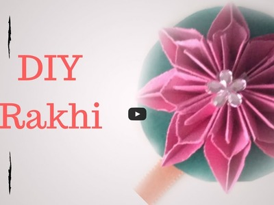 How to make rakhi at home-Tutorial by express feelings for Flower rakhi bracelet for Raksha Bandhan.