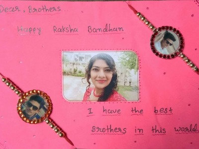 How to make rakhi card for brother at home