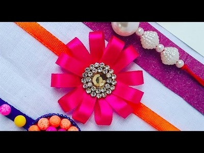 How to make Rakhi easily at home with satin ribbon, How to make Rakhi ,Rakhi making ideas l