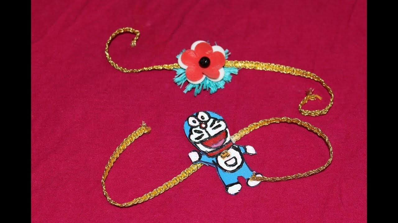 How to make Rakhi for Raksha Bandhan festival at home || Doraemon Rakhi || Cartoon Rakhi for kids