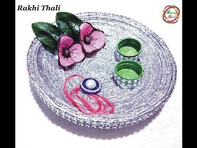 How to make Rakhi Thali at Home. Pooja Thali Decoration Raksha Bandhan