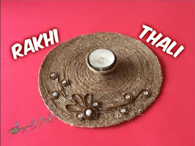 How to make Rakhi Thali with Jute thread at home Rakhi Special Part : 8