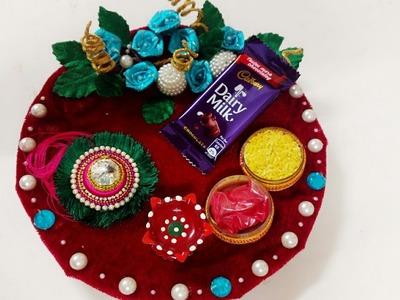 How to make Rakhi thalli.Raksha bandhan.DIY