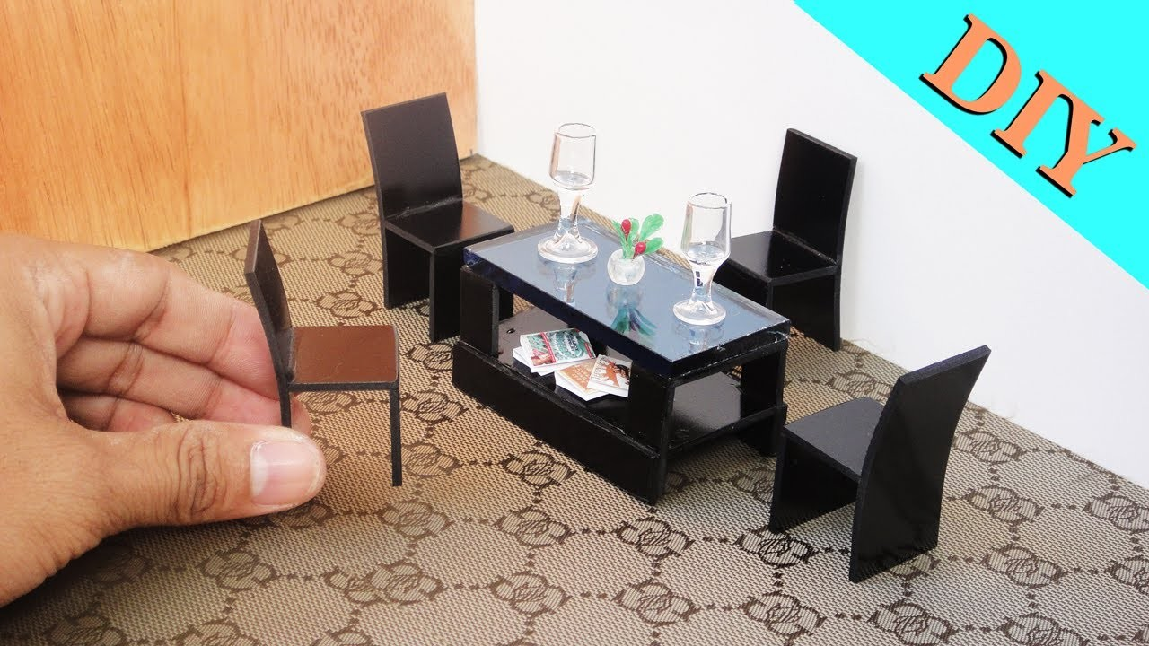 How To Make Realistic Miniature Coffee Table & Chair Sets -  Dollhouse