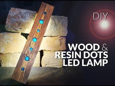 How to make RESIN & wood dots LAMP led DIY