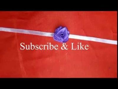 How to make ribbon rakhi at home   rose flower rakhi   raksha bandhan