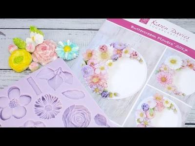 How To Make Sugar Flowers Using The Karen Davies Buttercream Flowers Mould