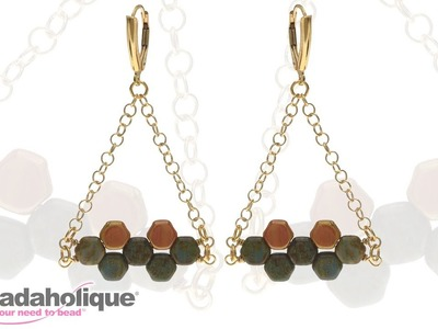 How to Make the Hodge Podge Honeycomb Bead Earring