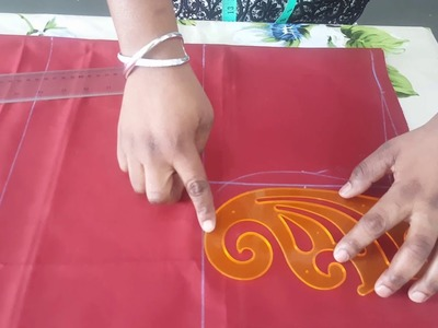 How to measure and cut a simple A Line Gown.