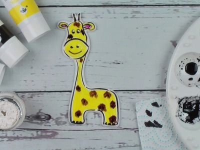How To Paint A Sugar Giraffe Cake Decoration