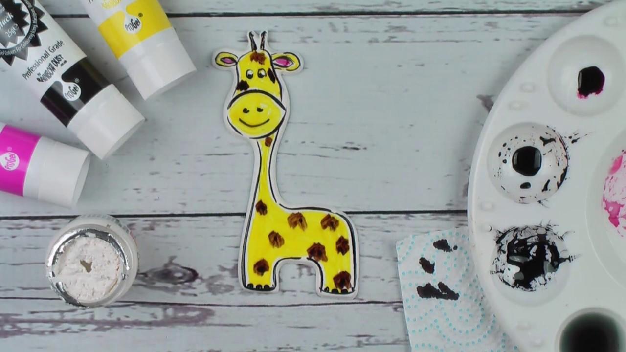 How To Paint A Sugar Giraffe Cake Decoration