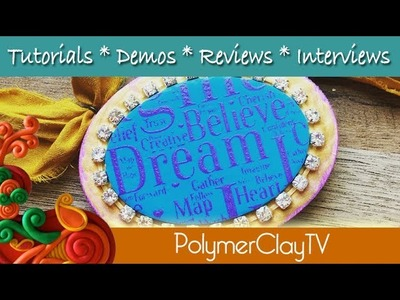How to polymer clay tutorial attach to wood and make an ornament
